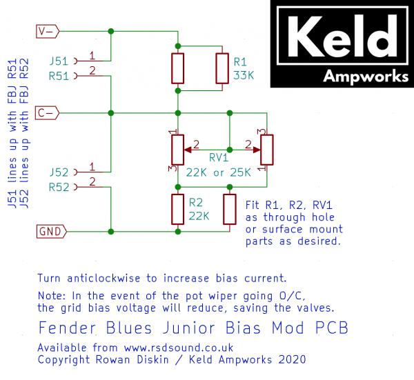 FBJ Bias Mod PCB Schematic